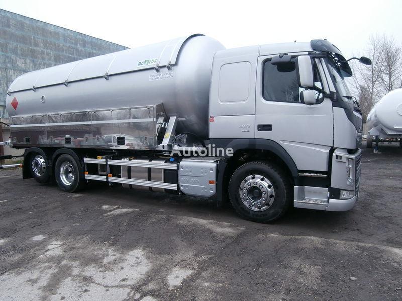 camion cisterna per trasporto gas VOLVO + rimorchio