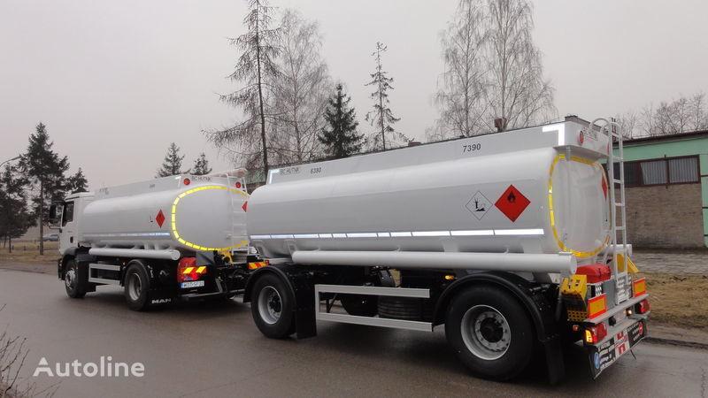 camion trasporto carburante SCANIA DAF,MAN,VOLVO,MB nuovo + rimorchio centinato
