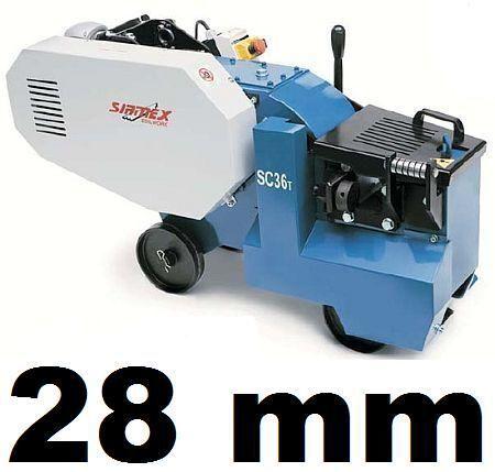 macchina per infissi SIRMEX SC32 T NOŻYCE GILOTYNA PRĘTÓW DRUTU ZBROJENIA 28mm nuovo