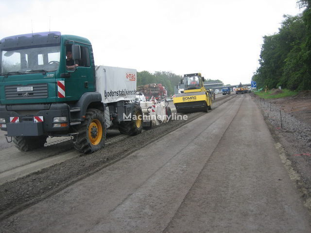 stabilizzazione di terreno MAN amag Polymer Recycler mit Wirtgen WS 250