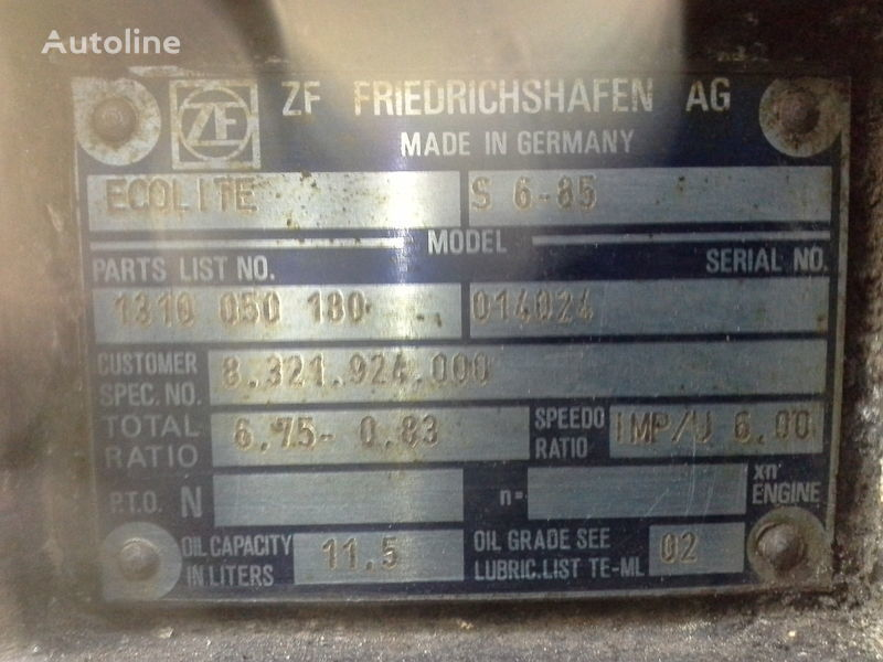 cambio di velocità  ZF S6-85 per autobus MERCEDES-BENZ