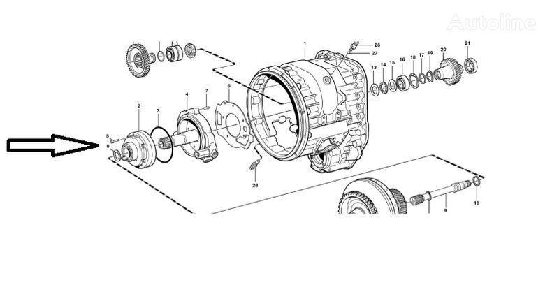 cambio di velocità  Pompa VOE11145264 per pala gommata VOLVO  L180E nuova