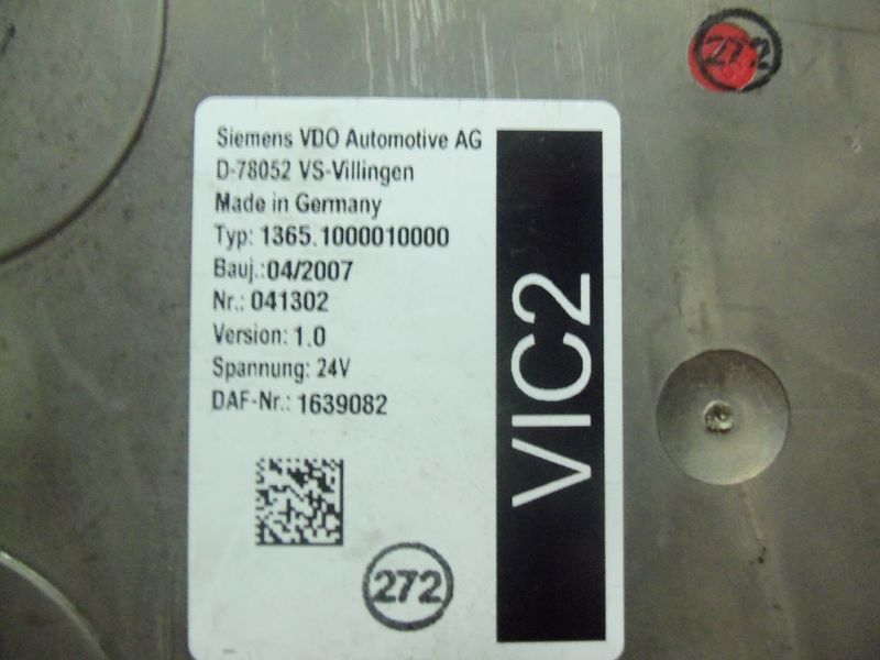 centralina  DAF VIC2 electronic control unit 1639082 per trattore stradale DAF 105XF