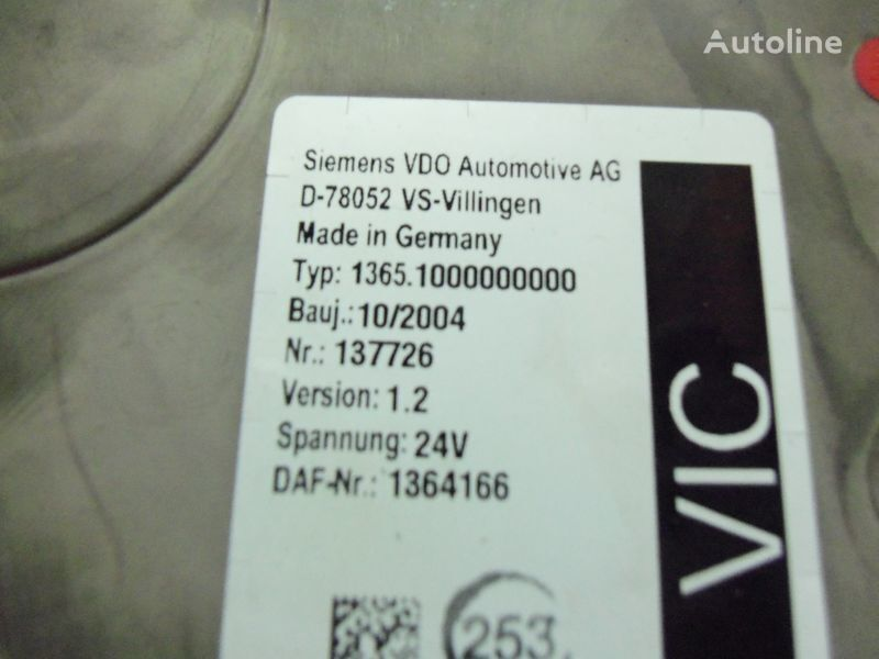 centralina  DAF 95XF Euro3 electronic unit, VIC1, 1364166 per trattore stradale DAF 95XF