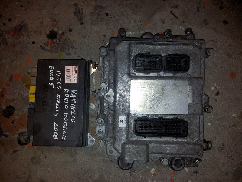 centralina  IVECO EURO5 450PS ECU 0281020048 engine computer EDC set (EDC, VCM - ELECTRONIC, chip), ignition set, 4462700020, 504122542 per trattore stradale IVECO STRALIS