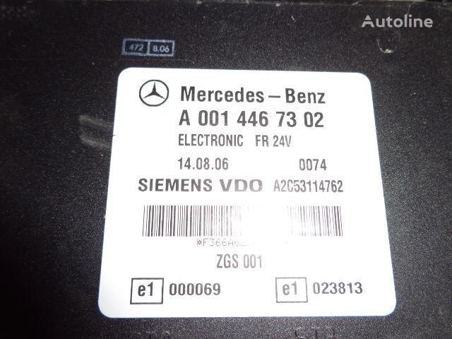 centralina  Mercedes Benz Actros MP2, MP3, MP4, FR control unit ECU 0014467302, 0014467302, 0004467502, 0014461002, 0014467402, 0004467602, 0004469602, 0014461302, 0014461402, 0014462602, 0014467002, 0014461902, 0014464102, 0014464002, 0024460102, 0014465402, 0024460 per trattore stradale MERCEDES-BENZ Actros
