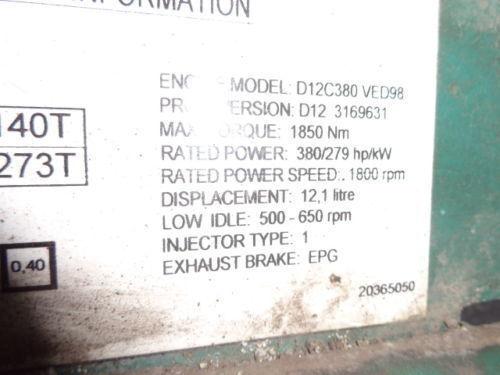 centralina  VOLVO D12C 380 HP engine computer EDC 20365050 ECU, 3169631, 3161952, 20412506, 3161962, 20577131, 20582958, 85111405, 85107712, 85103340, 3099133, 8500011, 85000086, 85000388, 85000846, 8113577, 85111405, 8113577, 3099133 per camion VOLVO FH12
