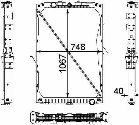 radiatore di raffreddamento motore  1674136. 1692332. 1739550 .1856628. 8MK376 733-7111861737. 1861737R per camion DAF XF95.105XF nuovo