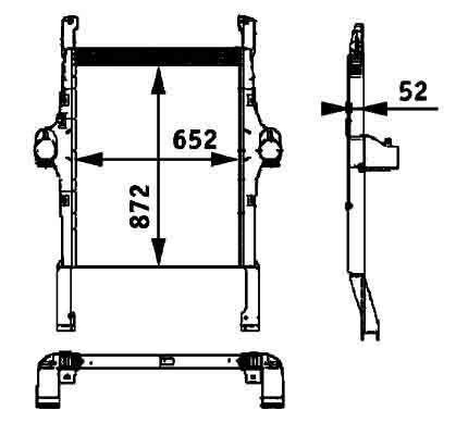 radiatore di raffreddamento motore  BEHR HELLA IVECO 41214448.8ML 376 724-251 per trattore stradale IVECO STRALIS nuovo