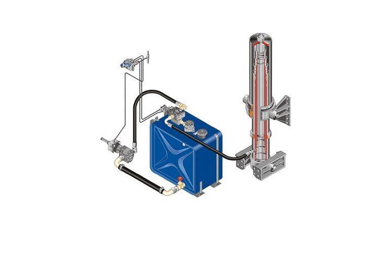 serbatoio idraulico  Komplekt gidravliki ITALIYa/AVSTRIYa/na MAN/DAF/IVECO/RENAULT per trattore stradale nuovo