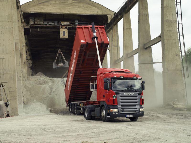 sistema di ribaltamento per trattore stradale nuovo