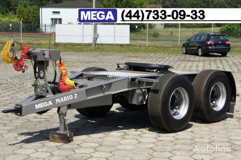 rimorchio dolly MEGA 2015 SALE !!! 2 Achsen Dolly fur Kipper mit Hydraulik - BEREIT ! nuovo