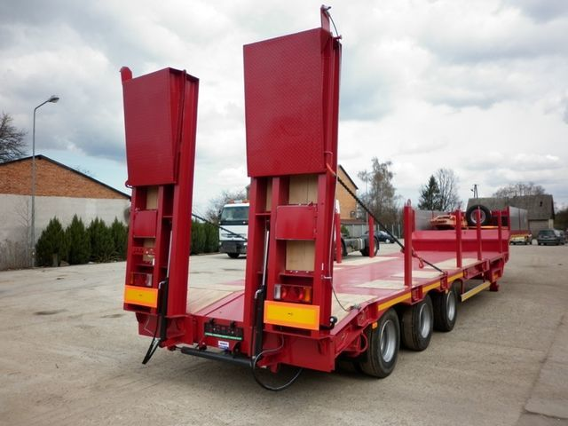 semirimorchio a pianale ribassato JANMIL  WABCO with ramps 30000 kg nuovo