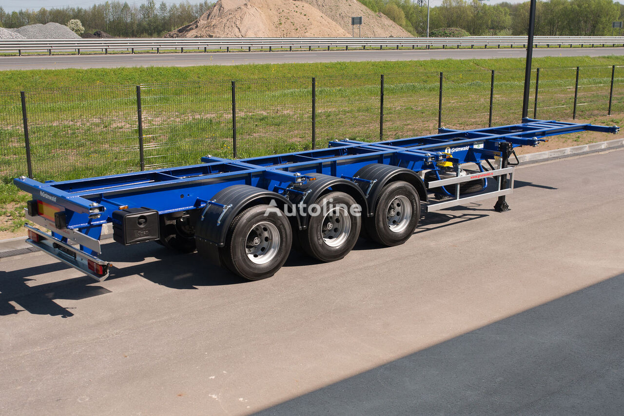 semirimorchio portacontainer GRUNWALD Versatile heavy duty container semitrailer nuovo