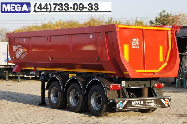 semirimorchio ribaltabile KARGOMIL 25 - 28 m³ HALF-PIPE / steel tipper - DOMEX 5/7 mm / SUPER STRON nuovo