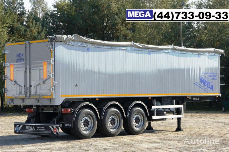 semirimorchio ribaltabile MEGA 42 m³ SAF ACHSE/ ALUMULDE / KLAPPETUREN / BEREIT nuovo