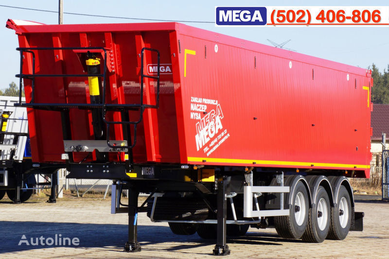 semirimorchio ribaltabile MEGA 45 m³ - alum. tipper SUPER-LIGHT - 5,300 KG & hatch door - READY nuovo