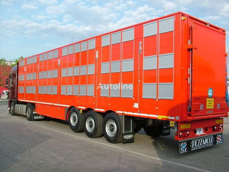 semirimorchio trasporto bestiame PEZZAIOLI SBA63 3 etazha zagruzki nuovo