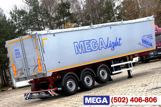 semirimorchio trasporto cereali KARGOMIL 42 - 45 m³ Alubox - ULTRA - light only 5,800 kg weight ! READY T nuovo