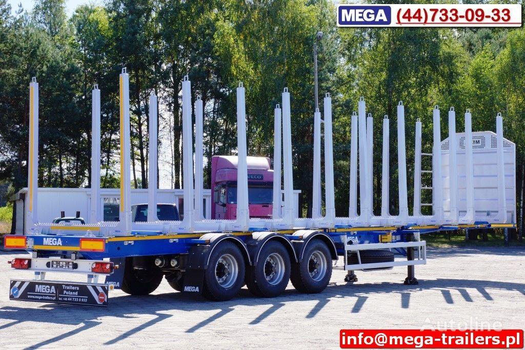 semirimorchio trasporto legname MEGA 10 U STANCHION - TIMBER SEMI-TRAILER/HOLZAUFLIEGER- READY ! BERE nuovo