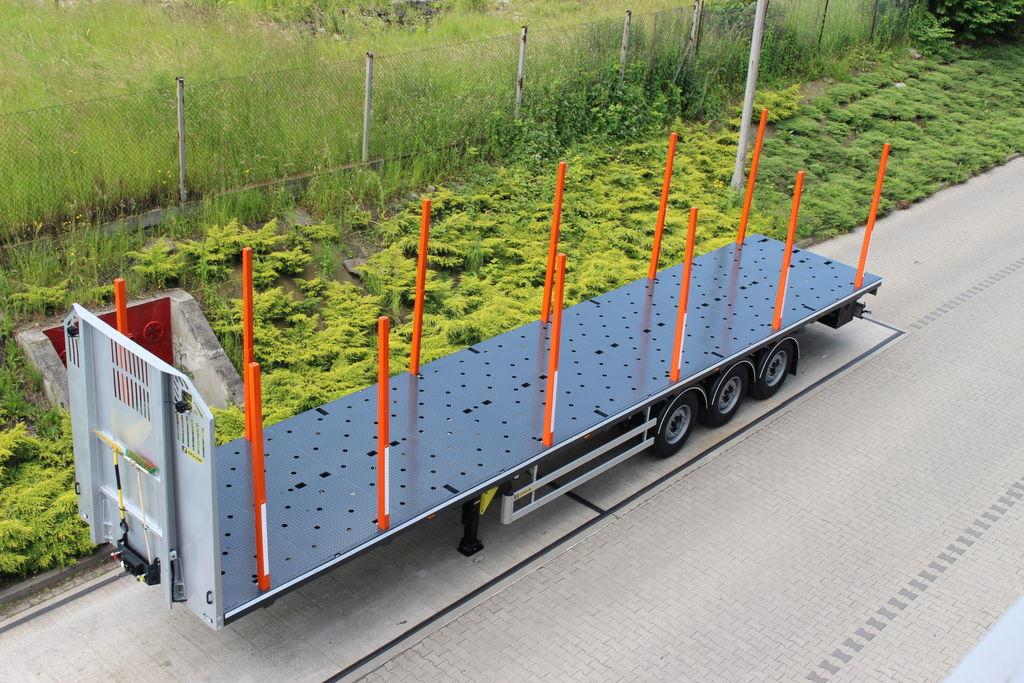 semirimorchio trasporto legname ZASLAW TRAILIS 651.NL.13.PK[without stakes] nuovo