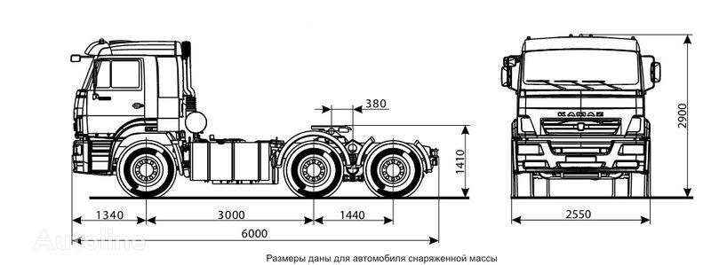trattore stradale KAMAZ 6460 (6h4)