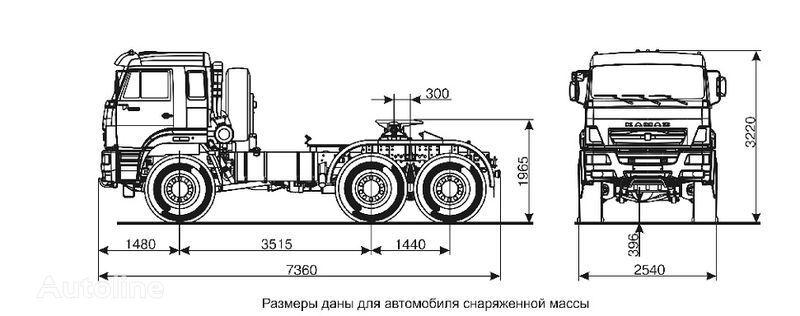 trattore stradale KAMAZ 65221