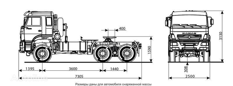 trattore stradale KAMAZ 65225