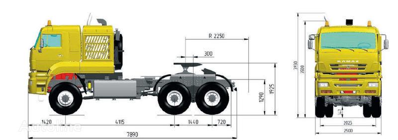 trattore stradale KAMAZ 65226 (6h6)