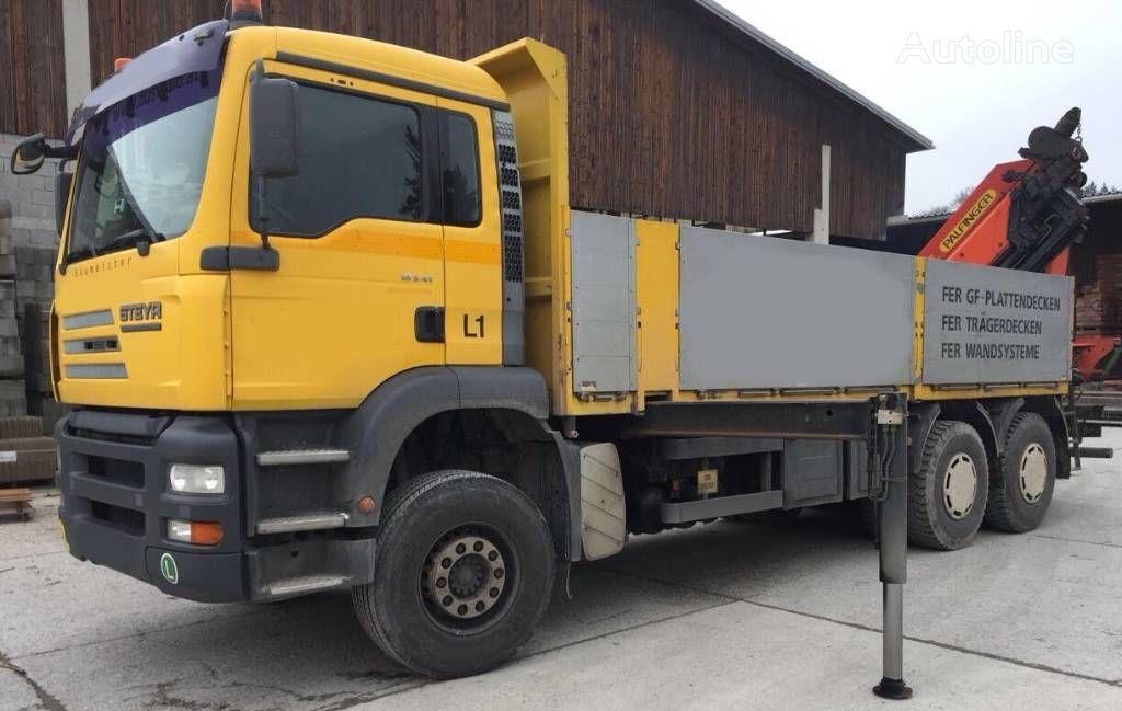 camion pianale STEYR 33S41 Man Palfinger PK 44002