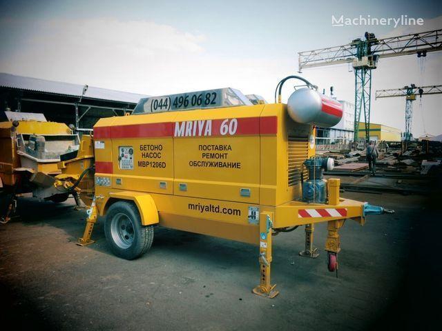 pompa per calcestruzzo carrellata MRIYA MBP 1206D nuovo