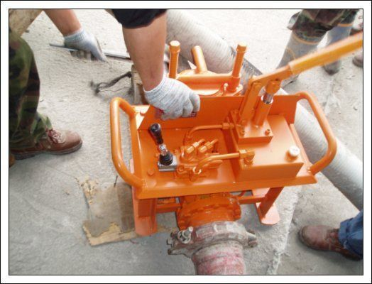 pompa per calcestruzzo carrellata Gidravlicheskie zadvizhki betonovoda (Yuzhnaya Koreya) nuovo
