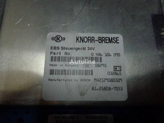 centralina MAN electronic brake system EBS, ECU, 81258087053, KNORR-BREMSE 0486 per trattore stradale MAN TGX