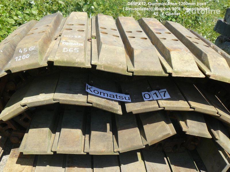 cingoli in gomma Kette mit Sinus- Gummiplatten für D65PX per escavatore