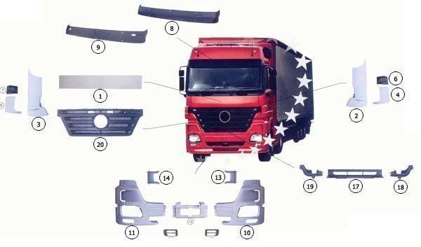 cofano MERCEDES-BENZ 9437500518 per camion MERCEDES-BENZ ACTROS MP2 nuovo