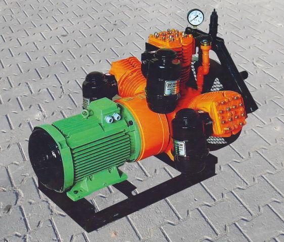 compressore aria per cisterna semirimorchio V3.16 tłokowy z silnikiem elektrycznym
