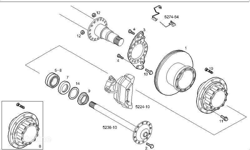 disco freno IVECO 2995812 2996328 7185503 7189476 per camion IVECO STRALIS nuovo