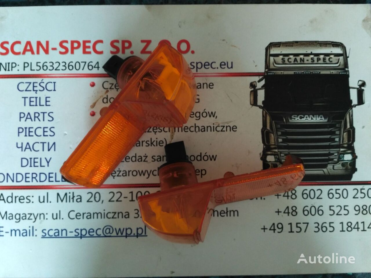 indicatore di direzione 1774632 Scania per trattore stradale