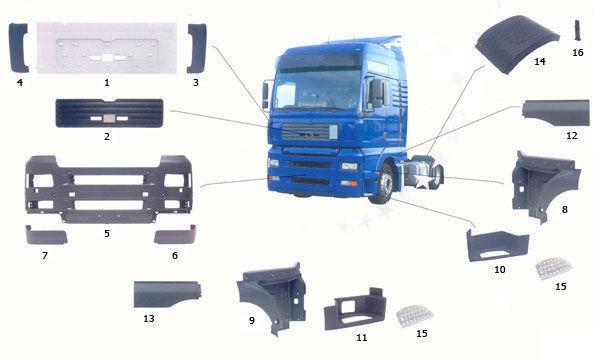 predellino MAN 81615100399. 81615100401,81615100400 per camion MAN TGA nuovo