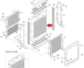 radiatore di raffreddamento motore VOLVO per pala gommata VOLVO