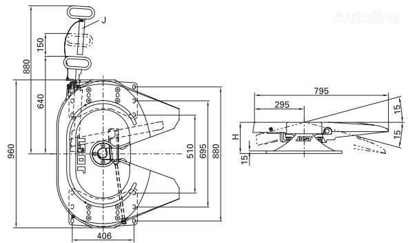ralla Jost 115 185mm per trattore stradale