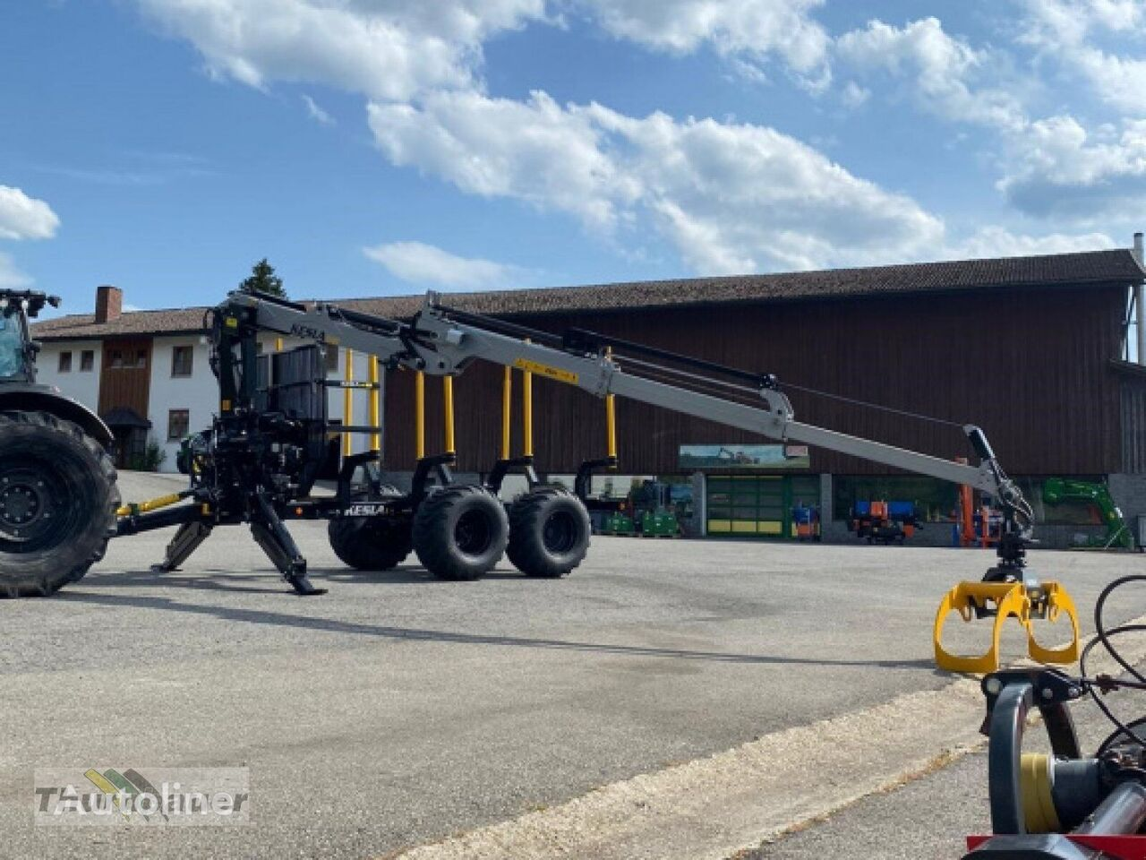 rimorchio trasporto legname 9T - 15 T nuovo