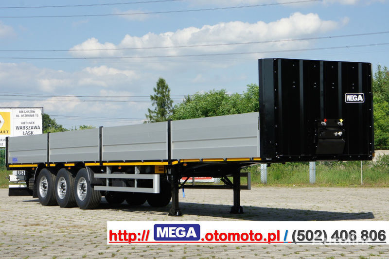 semirimorchio pianale MEGA MNS 22,5 - PLATFORM & ALUSIDES 800 MM /  STRONG  FRAME DOMEX650 nuovo