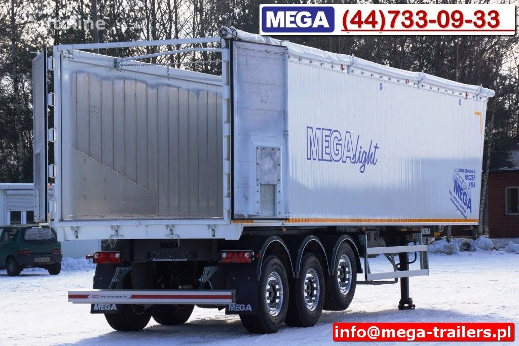 semirimorchio ribaltabile MEGA 10,4 m / 60 M³ ALUM TIPPER SUPER LIGHT 6,2 T ! READY & NEW ! nuovo