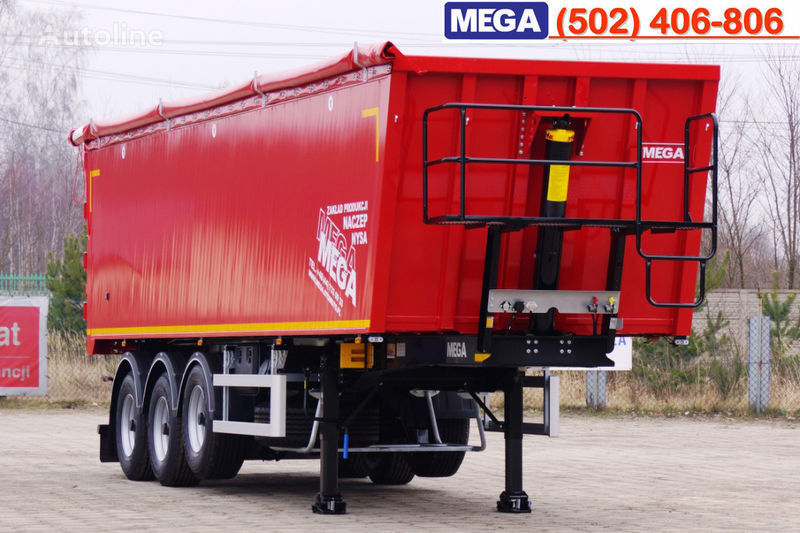 semirimorchio ribaltabile MEGA 45 m³ - alum. tipper SUPER-LIGHT - 5,300 KG & hatch door - READY nuovo