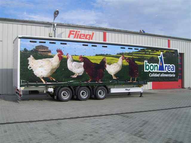 semirimorchio trasporto pollame FLIEGL SDS 350 Geflugel nuovo